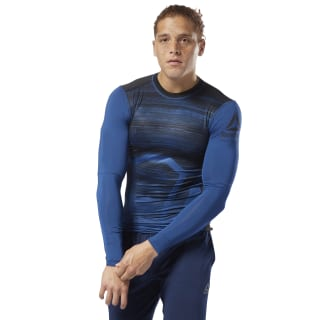 ACTIVCHILL Long Sleeve Compression Tee Bunker Blue D93760