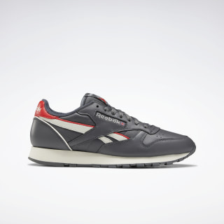 Classic Leather Shoes True Grey 7 / Chalk / Radiant Red EG6414