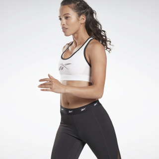 Reebok Hero Medium-Impact Racer Bra White FI6799