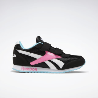 Reebok Royal Classic Jogger 2.0 Shoes Black / Neon Blue / Solar Pink EF3730