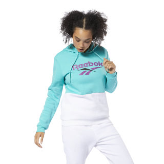 Classics Vector Hoodie Timeless Teal/White EC5962