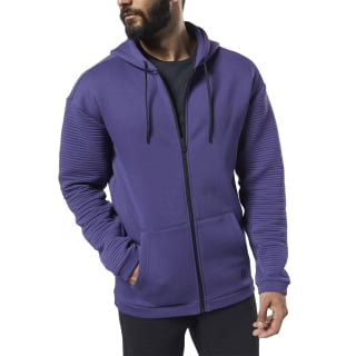 Workout Ready Full-Zip Fleece Hoodie Midnight Ink DY7805