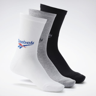 Classics Crew Socks 3 Pairs White / Medium Grey Heather / Black FM9461