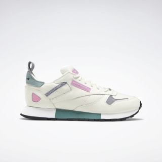Classic Leather Ree:Dux Women's Shoes Chalk / Green Slate / Jasmine Pink FV3538