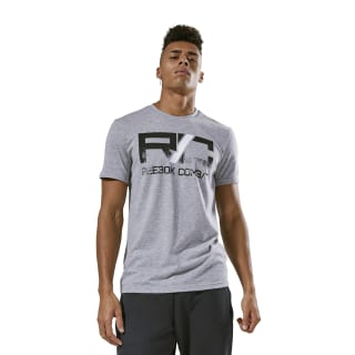 Reebok Combat Wordmark Tee Medium Grey Heather CY9971