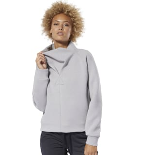 Training Supply Cowl Neck Top Mgh Solid Grey DU4039