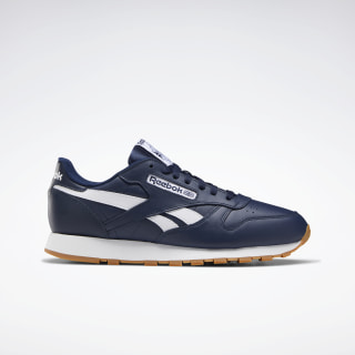 Кроссовки Reebok Classic Leather Blue/collegiate navy/white/reebok rubber gum-06 EG6424