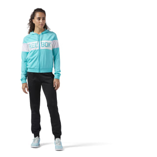 Tuta Elements Tricot Solid Teal / Black CD7040