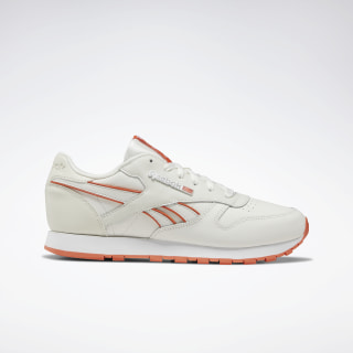 Classic Leather Chalk / Fiery Orange / White DV8759