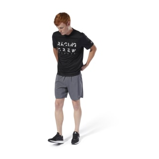 T-shirt à col rond Run Essentials Black DW6046