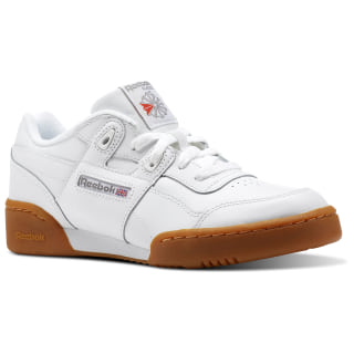 Workout Plus Shoes - Grade School White / Carbon / Classic Red / Reebok Royal CN2243