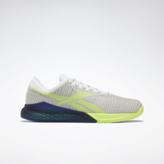 Reebok Nano 9 Men's Training Shoes White / Neon Lime / Deep Cobalt EG3304