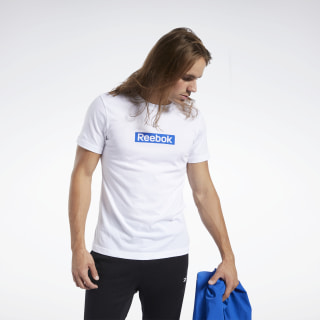 Training Essentials Linear Logo T-Shirt White FJ4688