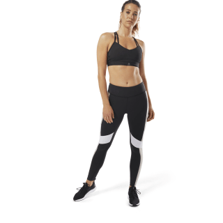 Lux Legging - Color Block Black / Parchment D94131