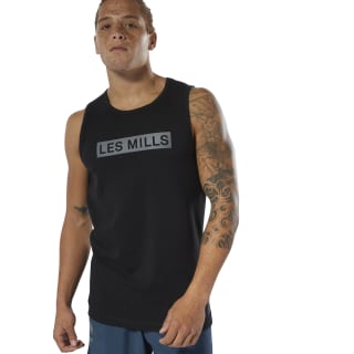 LES MILLS® Perforated Tank Top Black DW5229