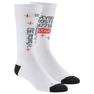 Active Enhanced Crew Socks White DU3019