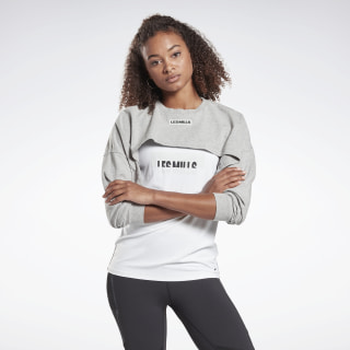 LES MILLS® Lifestyle Top Medium Grey Heather FM7122