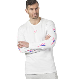 LF Long Sleeve Print T-Shirt White DN9806