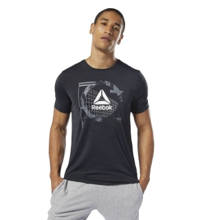 WOR ACTIVCHILL Graphic Tee Black DP6160