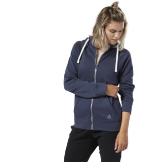 Training Essentials Fleece Full-Zip Hoodie Heritage Navy EC2301