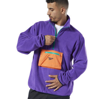 Sweat demi-zip Regal Purple FQ7449