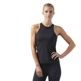 LES MILLS® Tank With Built In High Support Sports Bra Black CD6210