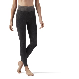 Washed Seamless Legging Black CD3767