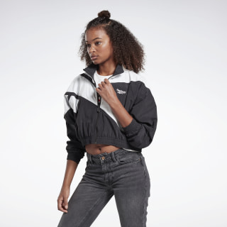 Classics Vector Cropped Track Jacket Black / White / White FL9427