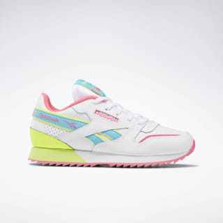 Classic Leather Ripple ATI 90s White / Solar Yellow / Solar Pink EG5243