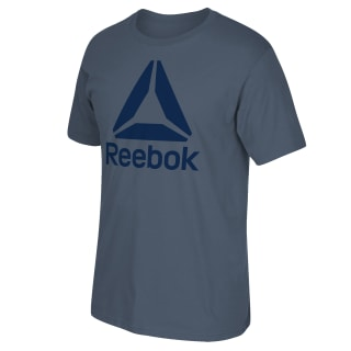 Stacked Logo Tee Indigo Blue FP8010
