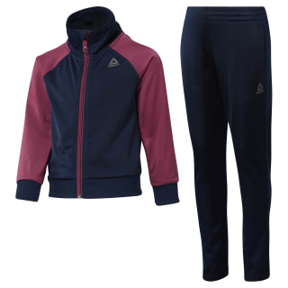 Girls Workout Ready Tricot Tracksuit Collegiate Navy / Twisted Berry DH4331