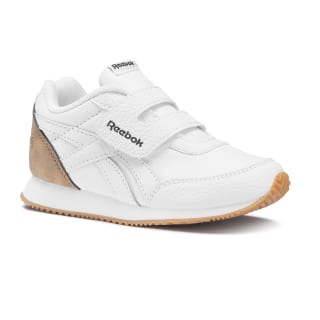 Reebok Royal Classic Jogger 2.0. KC – Toddler White / Dark Brown / Tan DV6945
