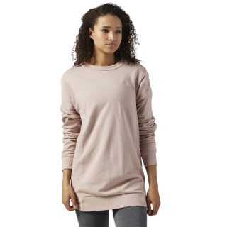 Reebok Classics French Terry crewneck Sweatshirt Shell Pink BR7425