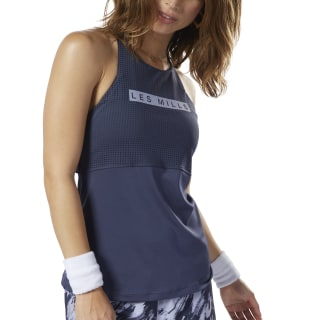 LES MILLS™ Medium-Impact Long Bra Heritage Navy ED0582