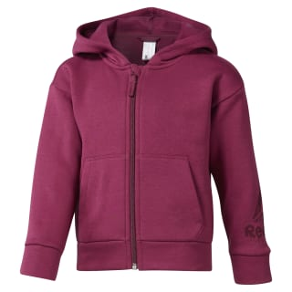 Girls Training Essentials Fullzip Fleece Hoody Twisted Berry DJ3061