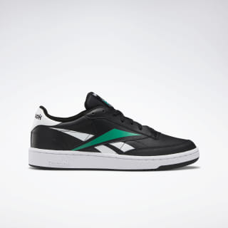Club Classic Vector Shoes Black / White / Emerald EF8840