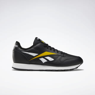 Classic Leather Vector Shoes Black / White / Toxic Yellow EF8835
