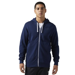 Reebok Classics French Terry Full Zip Hoodie Collegiate Navy BQ3354