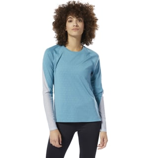 SmartVent Long Sleeve Tee Turquoise / Grey DU4152