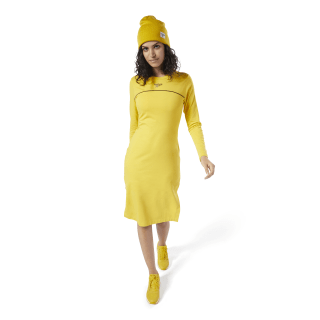 Classics Vector Dress Toxic Yellow EB5166