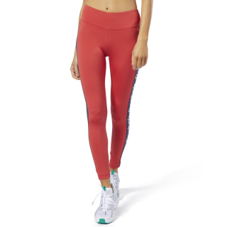 Training Essentials Linear Logo Tights Rebel Red FI4803