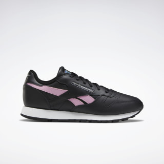 Classic Leather Women's Shoes Black / Jasmine Pink / Silver Met. EH2006