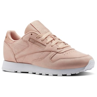 Classic Leather Nude Nubuck Rose Cloud/White CN1504