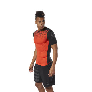 ACTIVCHILL Graphic Compression Tee Carotene D93806