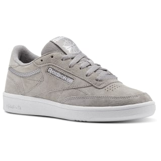Reebok Club C 85 Trim Nubuck Powder Grey / White / Pale Pink BS9610