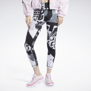 Meet You There Allover Print 7/8 Legging Black FK6821