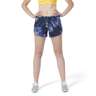 Running Essentials Printed Shorts – 10 cm Crushed Cobalt / Solar Gold DP6606