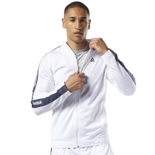 Training Essentials Linear Logo Track Jacket White FI1939