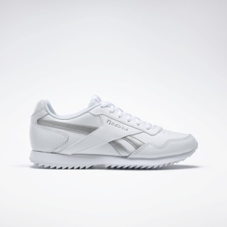 Reebok Royal Glide Ripple Shoes White / Matte Silver / White EG1499