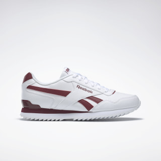 Reebok Royal Glide Ripple Clip White / Collegiate Burgundy BD5322